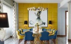 blue dining room 10 Stylish Blue Dining Room Ideas Emirates Hills villa 4 HR 240x150