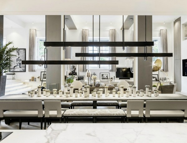 dining room ideas Beautiful Neutral Dining Room Ideas by Kelly Hoppen kelly hoppen 2 600x460