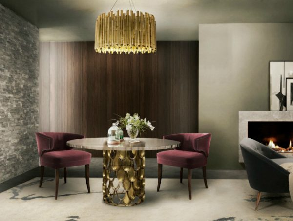 Add A Pop Of Color To Your Home With These Stylish Dining Room Chairs dining room lights How To Spruce Up Your Space With Gold Dining Room Lights Add A Pop Of Color To Your Home With These Stylish Dining Room Chairs 1 600x454