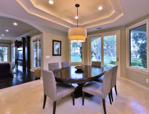 Top 10 Celebrity Dining Rooms For You To Inspire Your Dining Room dining room Top 10 Celebrity Dining Rooms For You To Inspire Your Dining Room drdre calabasas home dining room 051618 870x570 1 600x460