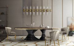 dining room STUNNING Dining Rooms Tables from Brabbu for Your Next Dining Room Project nuka dining chairs grey 240x150