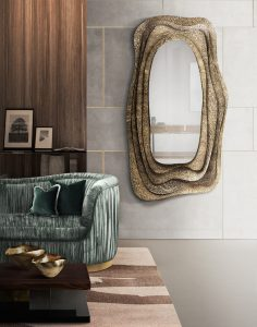 dining room Dining Room Inspiration: Beautiful Mirrors as Decoration KUMI Mirror 236x300
